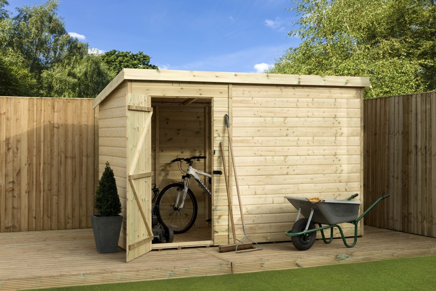 Pressure treated shiplap wooden garden shed 8x5 shiplap for Garden shed 8x5