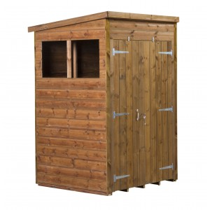 Empire Modular Pressure Treated Pent Garden Shed 4x4